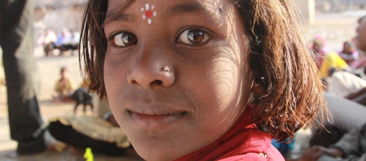little girl indian