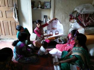 sensibilisation des femmes indiennes à la salubrité