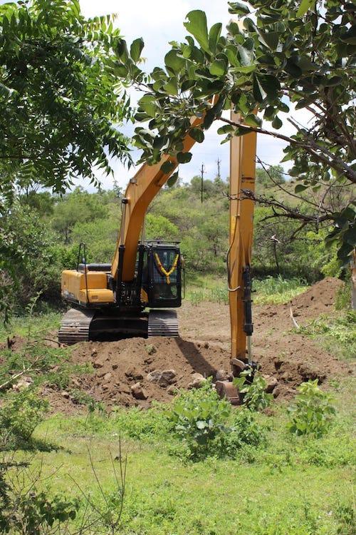 construction de puits en Inde par l'ONG Rain Drop